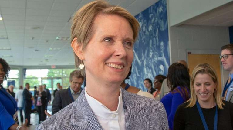 Cynthia Nixon at the opening day of the