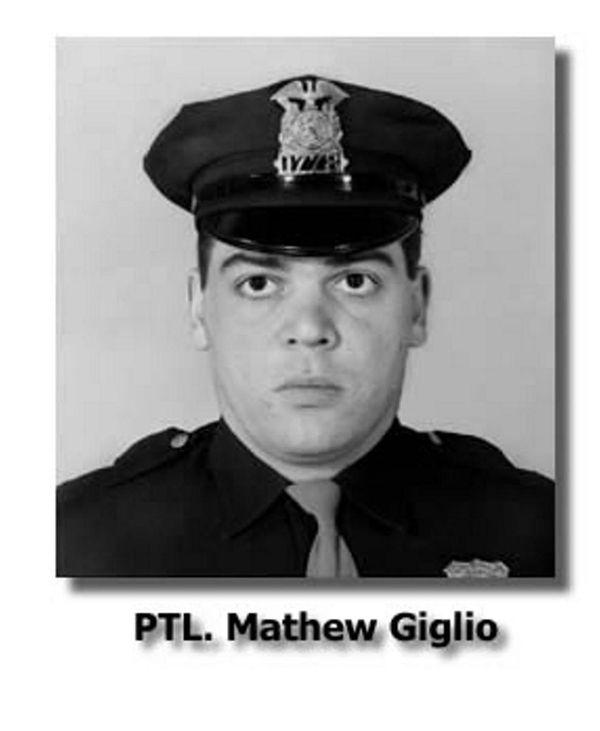 Officer Matthew Giglio died of gunshot wounds received