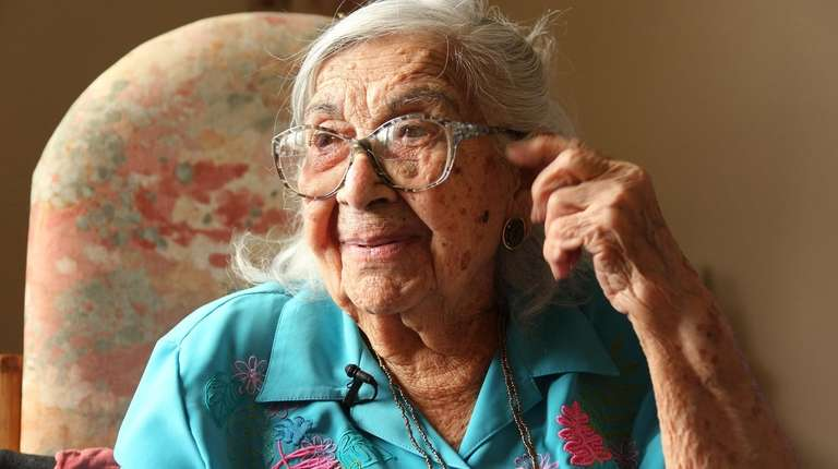 Magdalena Justiniano, who is 104, says the secret