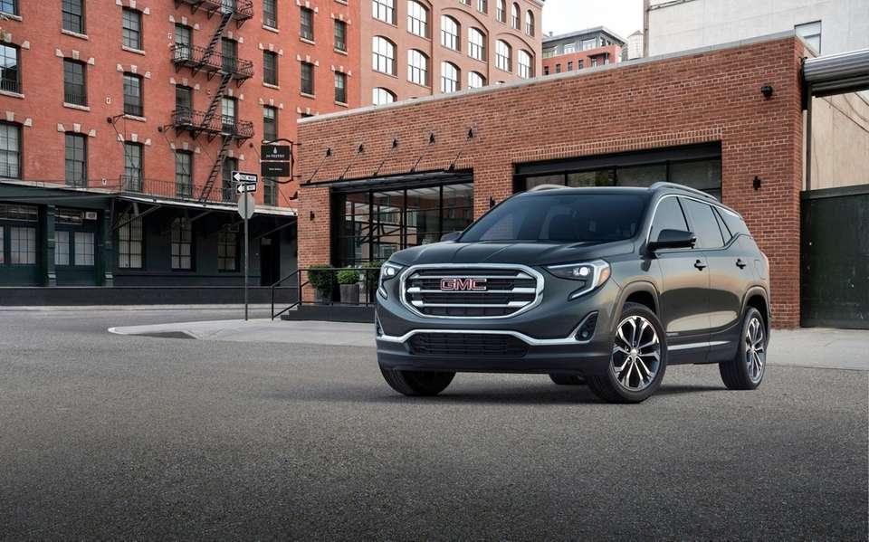 2018 All-New GMC Terrain SLT, a compact crossover
