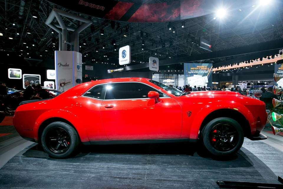 The 2018 Dodge Challenger SRT Demon on display