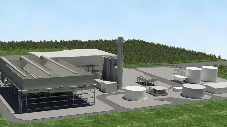 Artist's rendering of the proposed Caithness II gas-fired