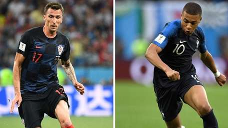 A combination of file pictures shows France's forward