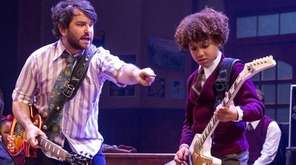 Original cast members Alex Brightman, left, and Brandon