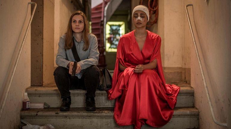 Actresses Neta Riskin, left, and Golshifteh Farahani in