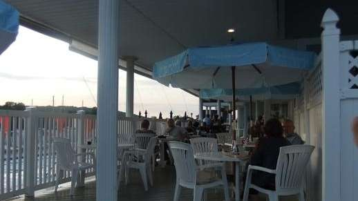Deckside dining at The Whale's Tale in Northport