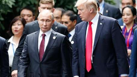 President Donald Trump and Russian President Vladimir Putin,