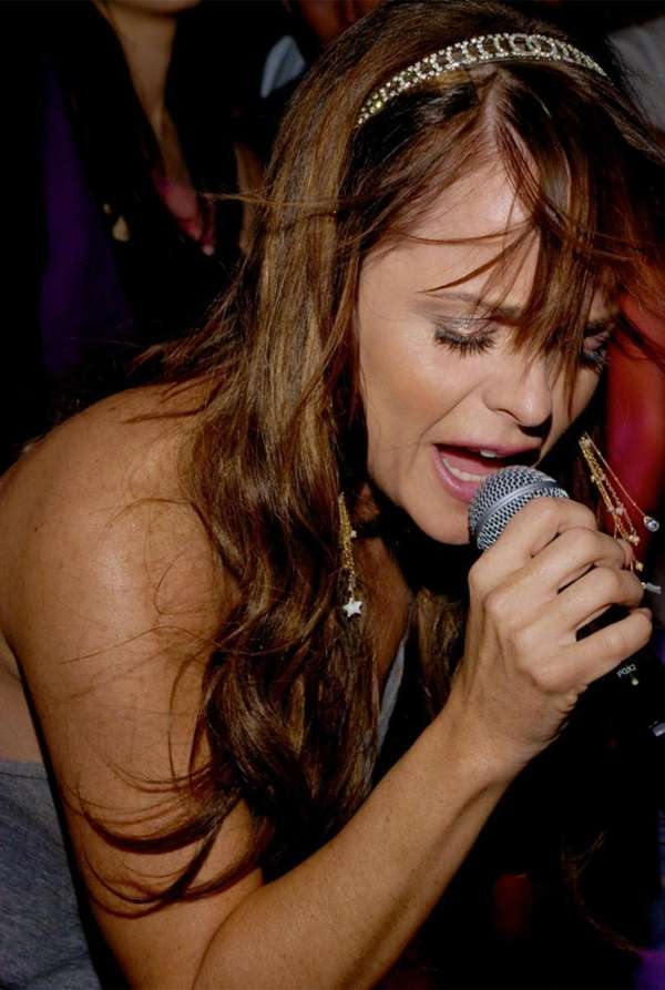 Actress-turned-singer Taryn Manning performs at Lily Pond; she