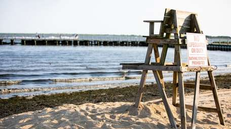 Tanner Park Beach in Copiague is shown in