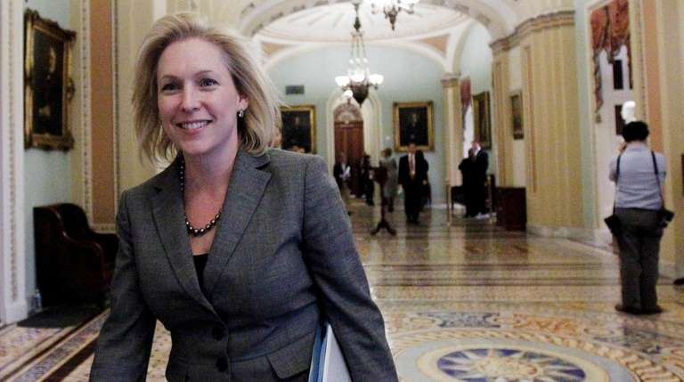 Sen. Kirsten Gillibrand walks near the Senate floor