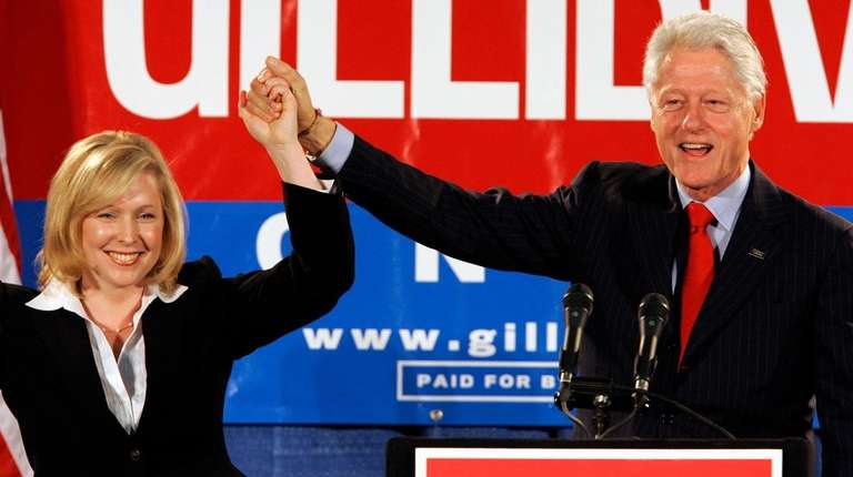 Former President Bill Clinton with Kirsten Gillibrand at
