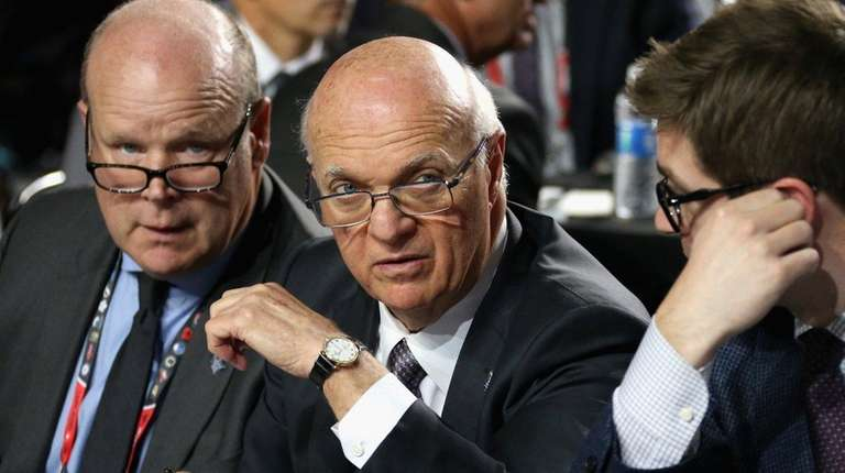 General manager Lou Lamoriello of the Toronto Maple