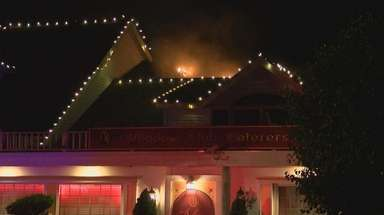 A fire broke out Saturday at The Meadow
