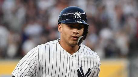 Yankees second baseman Gleyber Torres rounds the bases