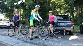 The Massapequa Park Bicycle Club discussed their mutual