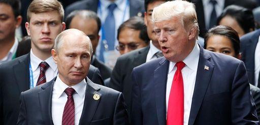 President Donald Trump with Russian President Vladimir Putin