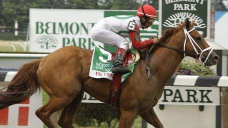 Jockey Edgar Prado rides D' Funnybone across the