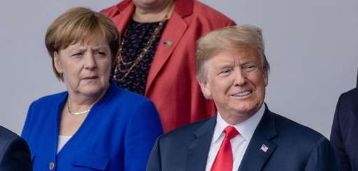 President Donald Trump with German Chancellor Angela Merkel