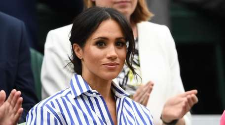 Meghan Markle attends Wimbledon Lawn Tennis Championships on