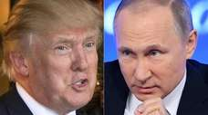 President Donald Trump and of Russian President Vladimir
