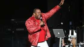 Busta Rhymes performs at the Jones Beach Northwell