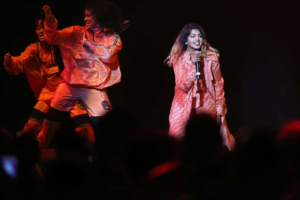 M.I.A. performs on July 15.