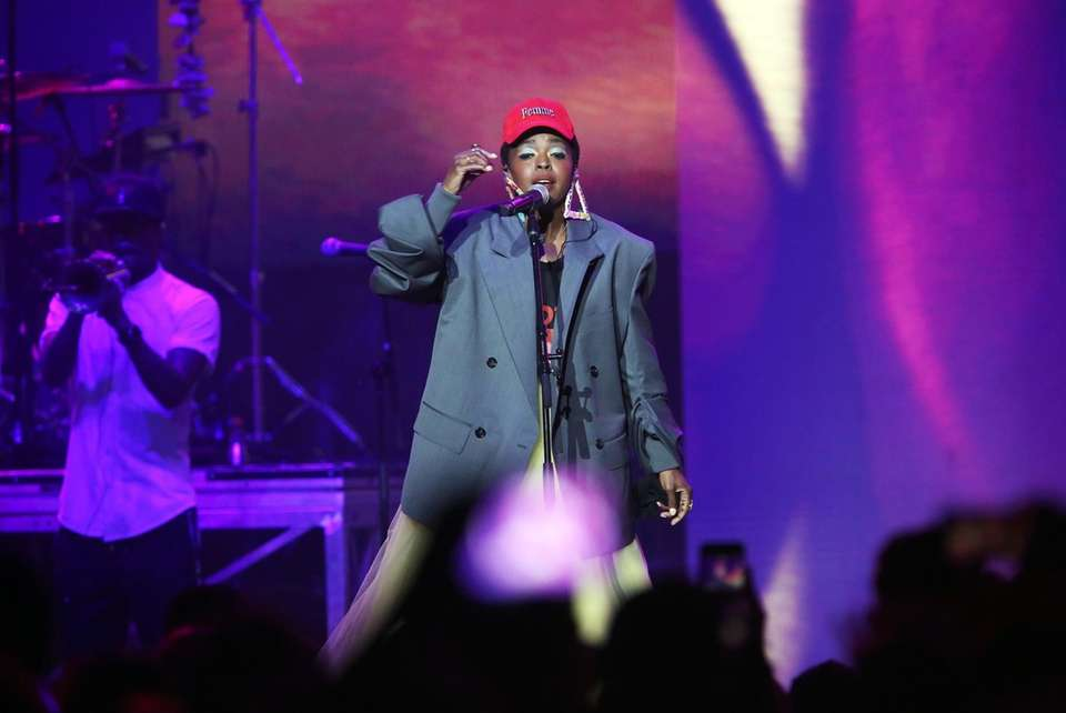 Lauryn Hill performs on July 15.