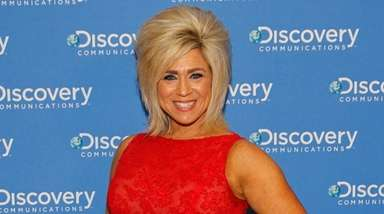 Theresa Caputo at TLC's 2014 upfront presentation event