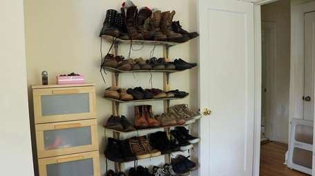 Matt Lentini built a shoe rack out of