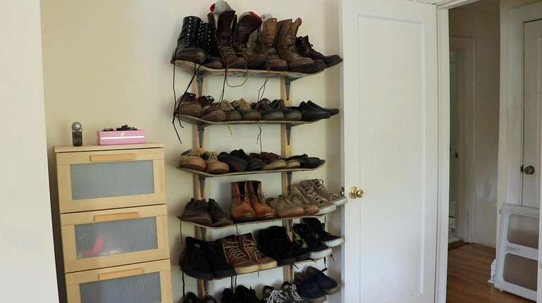 Matt Lentini built a shoe rack out of