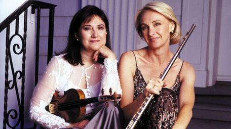 Violinist Ani Kavafian, left, and flutist Marya Martin,