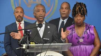 The Rev. Al Sharpton, shown Monday with Gwen