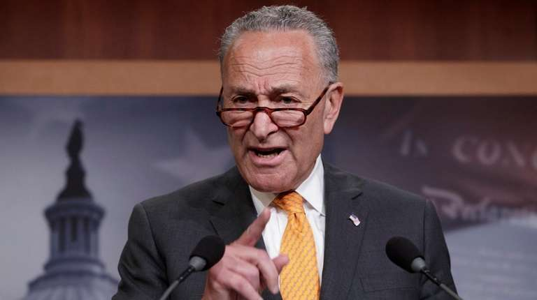 Senate Minority Leader Chuck Schumer (D-N.Y.) criticizes President