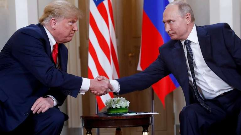President Donald Trump and Russian counterpart Vladimir Putin