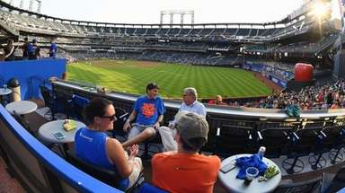 Fans hang out in the Citi Pavilion before