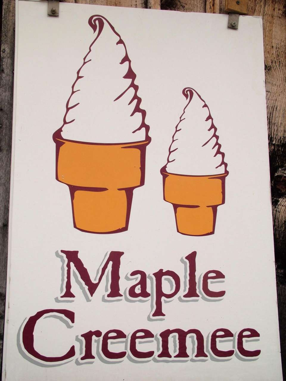 The Maple Creemee, a maple-flavored frozen custard, is