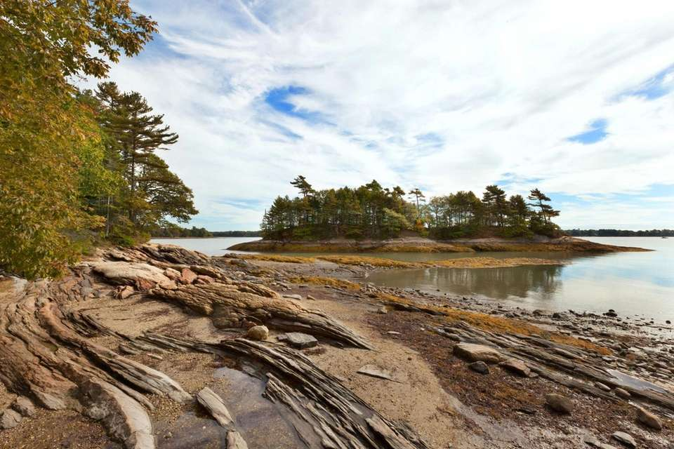 The Maine coast at Wolfe's Neck Woods State