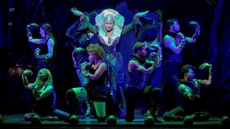 Peppermint stars as Pythio in the Broadway musical