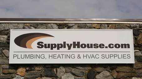 The exterior of the SupplyHouse.com building in Farmingdale,