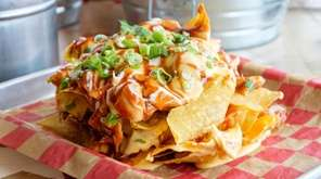 The nachos bucket starter combines tortilla chips with