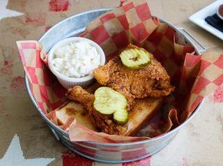 Nashville Hot Chicken, a spicy drumstick and thigh