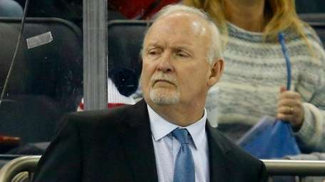 Rangers assistant coach Lindy Ruff looks on during