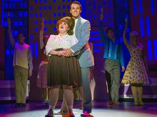 Katy Geraghty plays Tracy Turnblad and Sam Leicht