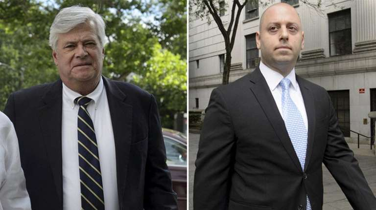 Former Senate Majority Leader Dean Skelos, left, and