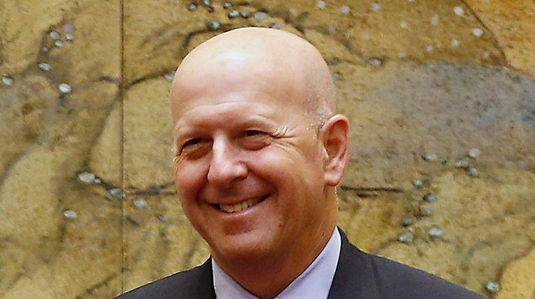 Chief operating officer of Goldman Sachs David Solomon