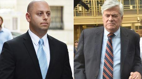 Adam Skelos, left, returns to federal court in