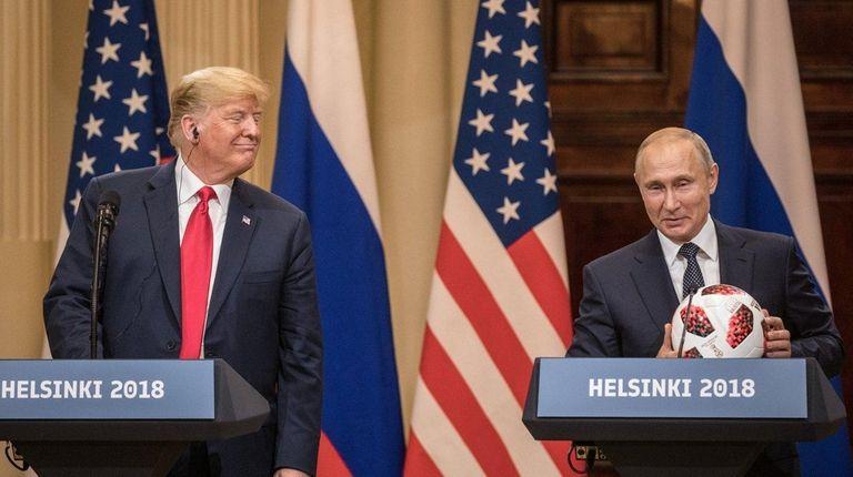 President Donald Trump and Russian President Vladimir Putin