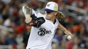 Brewers pitcher Josh Hader was rocked for four