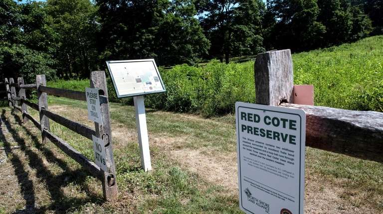 Red Cote preserve in Oyster Bay Cove, Friday,