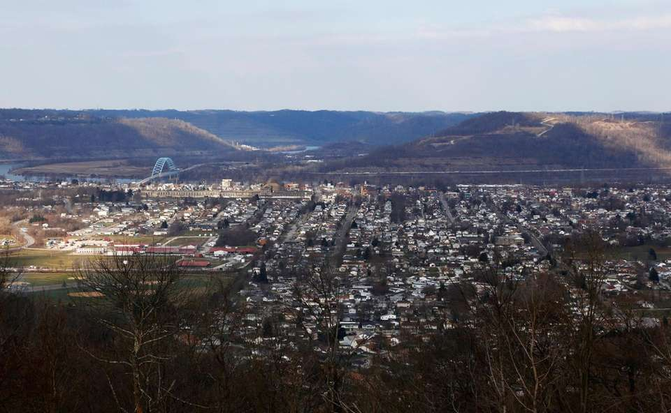 This March 15, 2018 photo shows Moundsville, W.Va.,